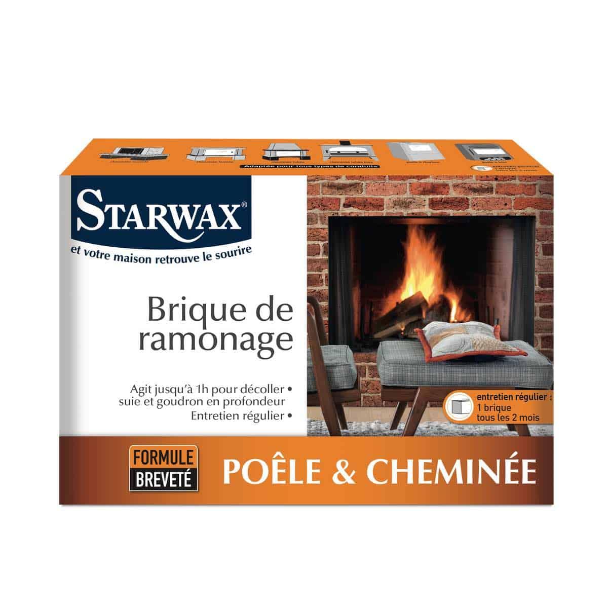 Brique de ramonage pour poêle & cheminée